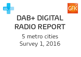DAB+ Digital Radio Report - 1, 2016 Cover Image
