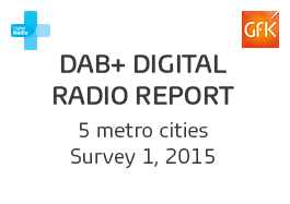 DAB+ Digital Radio Report - 1, 2015 Cover Image