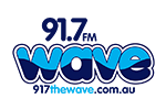 91.7 The Wave Logo